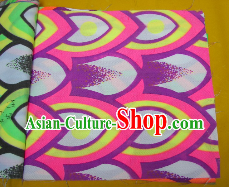 Yellow Pink Purple Ultra Violet Bamboo Pattern Dragon Dance Costumes Complete Set
