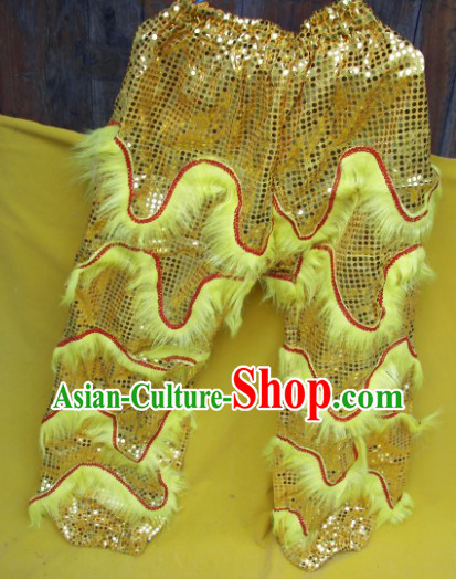 Imitation Wool One Pair of Lion Dance Pants and Claws