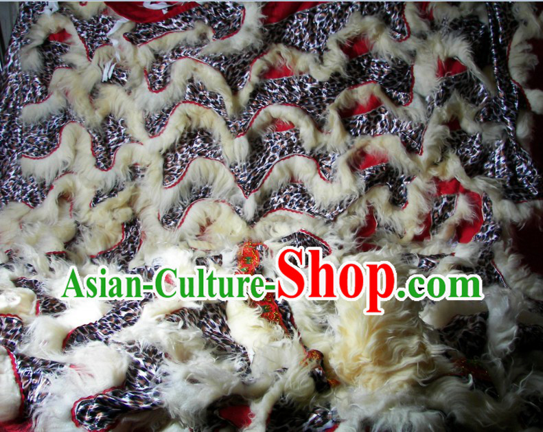 Eye-catching Lepoard Pattern Top Quality Lion Dance Body Costumes Pants and Claws