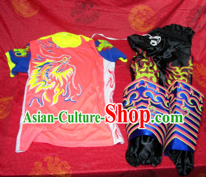 Luminous Dragon Dancer T-shirt Pants and Legs Wrappings