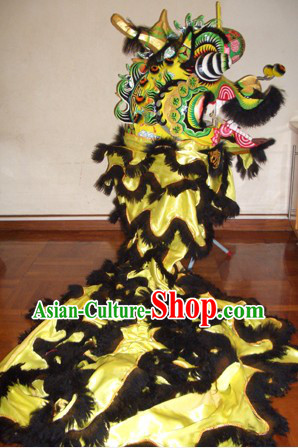 Traditional Chinese Lunar New Year Celebration Kylin Dance Costumes Complete Set