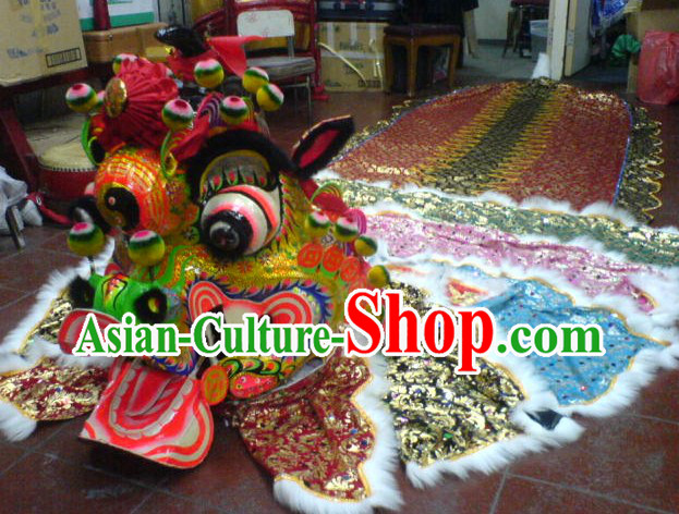 Ancient Chinese Style Kylin Dancing Costumes Complete Set
