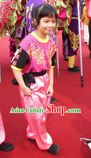 Top Quality Dragon Dancer Pants and T-shirt for Children