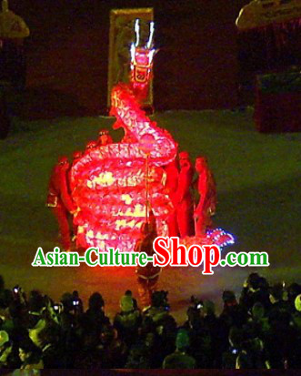 LED Electric Lights Professional Performance Dragon Dance Costumes Complete Set