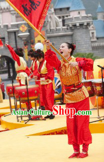 Chinese Lunar New Year Dragon Dancer Costumes for Women