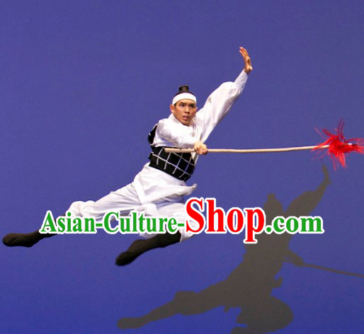Chinese Stage Performance Warrior Dance Costumes for Men