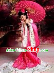 Ancient Chinese Tang Dynasty Princess Clothes for Girls