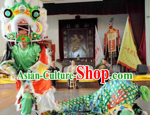 Classic Chinese Handmade Kylin Dance Costume Complete Set