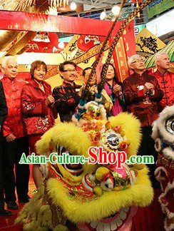 Long Feathers Traditional Fut San Spendid Lion Dancing Outfits Complete Set