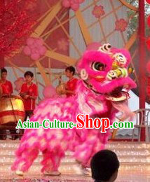 Peachblossom Color Wedding and Good Events Lion Dance Costumes Complete Set