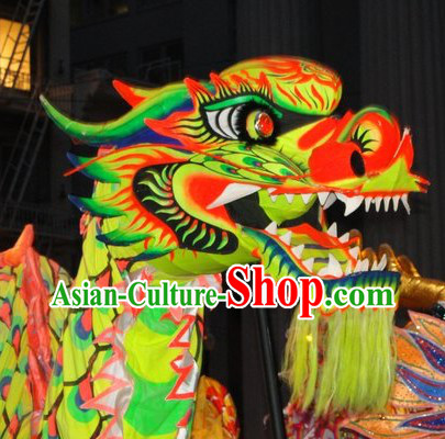 Handmade Chinese Festivals and Events Celebration Luminated Dragon Dancing Costumes Complete Set
