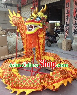Red and Yellow Traditional Chinese Dragon Dance Costumes Complete Set