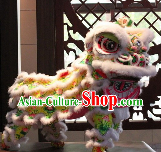 Chinese Classic Lotus Lion Dance Outfit Complete Set