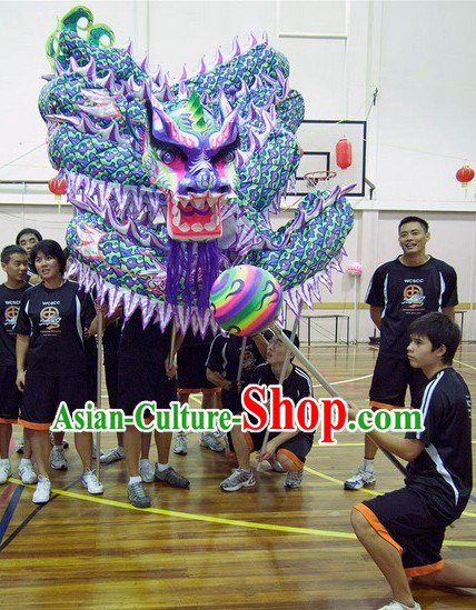 Professional Glow in the Dark Ultraviolet Dragon Dance Costume Complete Set