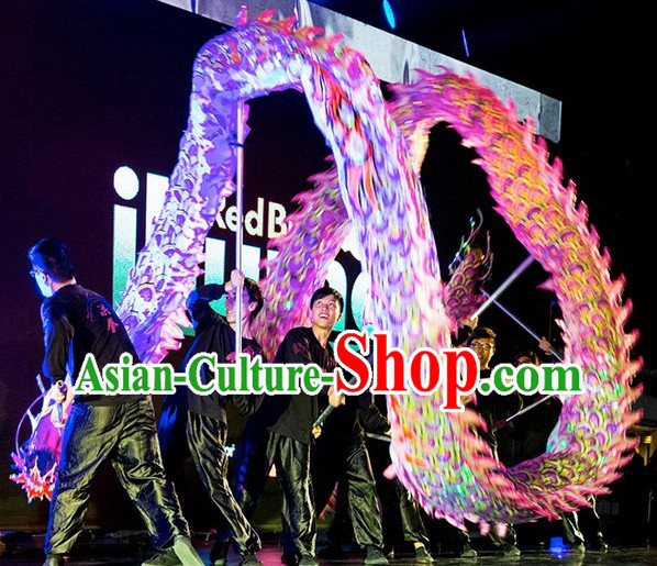Professional Competition and Performance Ultraviolet Dragon Dance Costume Complete Set