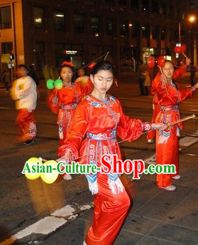 Traditional Chinese New Year Parade Dance Costumes for Women