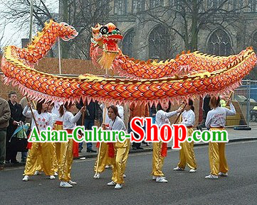 Professional Luminous Dragon Dance Championship Costumes Complete Set
