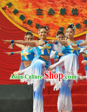 Professional Group Dance Costumes and Headwear Complete Set for Women