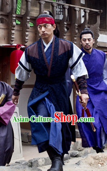 Ancient Korean Swordman Costumes Complete Set for Men