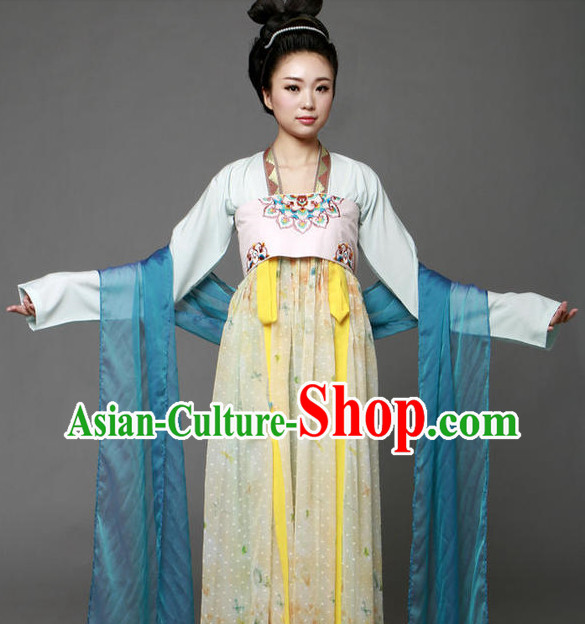 Chinese Traditional Tang Dynasty Clothing Complete Set
