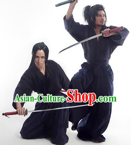 Japanese Swordman Costumes and Bamboo Hat