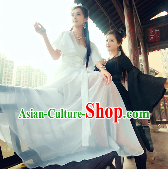 Chinese White Hanfu Clothes