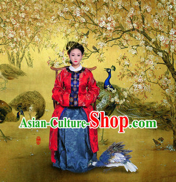 Chinese Classical Female Clothing and Hair Accessories Complete Set