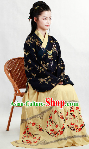 Ancient China Ming Blouse and Skirt Complete Set for Women