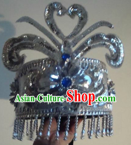 Traditional Yi Minority Headpiece for Dancers