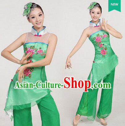 Traditional Chinese Spring Dancing Outfit Complete Set