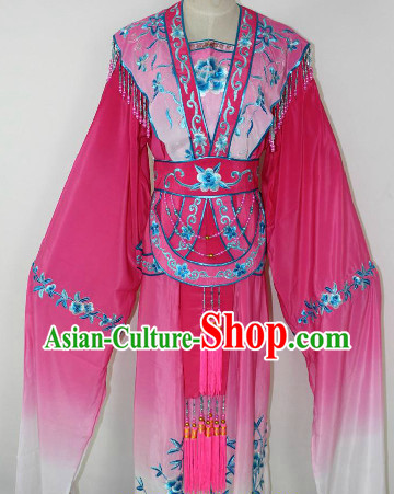 Chinese Ancient Water Sleeve Color Transition Dancing Costumes for Women