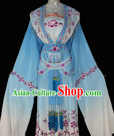 Shuixiu (Water Sleeves) Flower Embroidery Dancing Costumes for Women