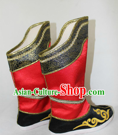 Ancient Chinese Red Official Boots