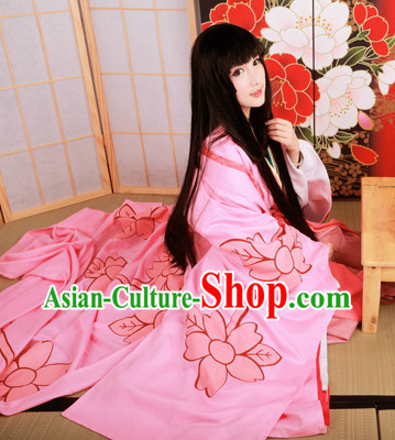 Traditional Japanese Princess 12 Pieces Kimono Clothing Complete Set