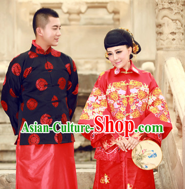 Traditional Brides and Bridegroom Wedding Dresses