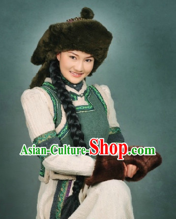 Mongolian Princess Jacket Clothes and Hat Complete Set