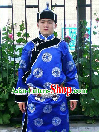 Mongolian Prince Clothing and Hat Complete Set
