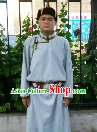Mongolian Nobleman Clothing and Hat Complete Set