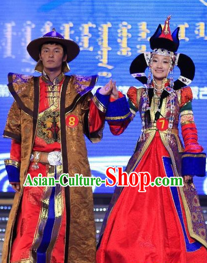 Mongolian Emperor and Empress Clothes and Hats