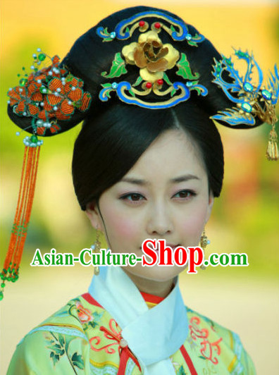 Qing Dynasty Manchu Hair Jewelry Headwear
