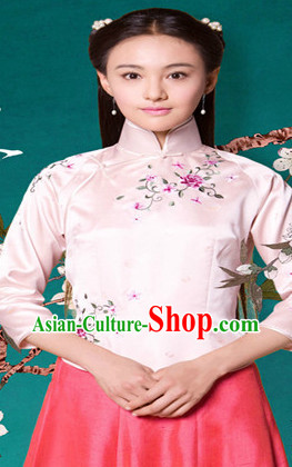 China Minguo Lady Blouse and Skirt