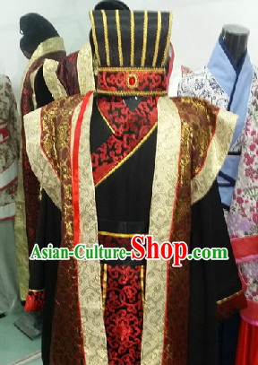 Ancient Chinese Court Costume and Hat for Men