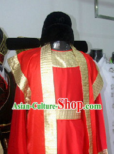 Ancient Chinese Court Official Costumes and Hat for Men