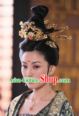 Chinese Professional Drama Long Wig and Hair Accessories