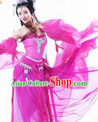 Chinese Traditional Dance Costume and Hair Decorations