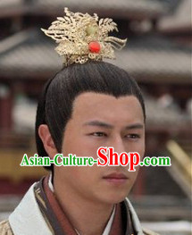 Ancient Chinese Prince Headwear and Wig
