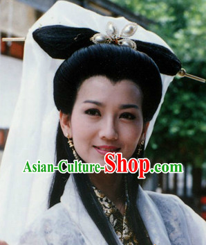 Ancient Chinese Fairy Long Wig and Headwear