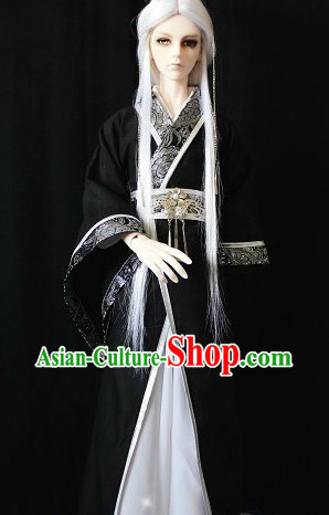 Traditional Chinese Black Hanfu Dresses for Men