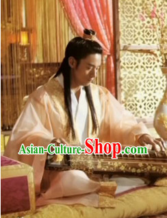 Ancient Korean Palace A Frozen Flower Emperor Costumes and Coronet Complete Set