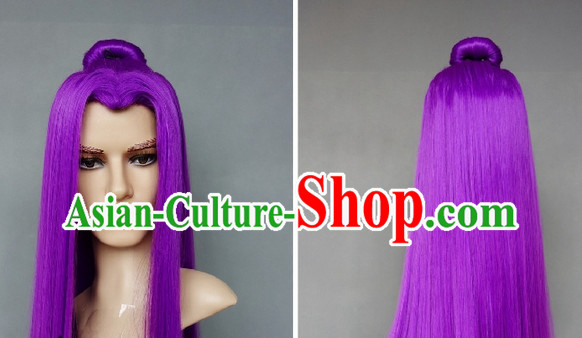 Ancient Knight Cosplay Purple Long Wig